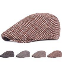 berretto beret vintage leggero traspirante leggero traspirante in feltro regolabile per uomo