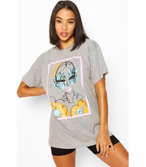 peachy graphic t-shirt, grey