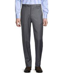 armani collezioni men's virgin wool trousers - dark grey - size 54 (44)