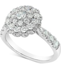 marchesa round cluster ring (1-1/2 ct. t.w.) in 18k white gold