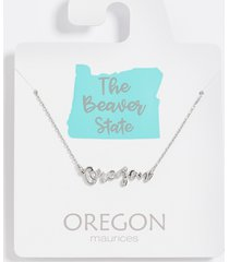 maurices womens dainty oregon necklace gray