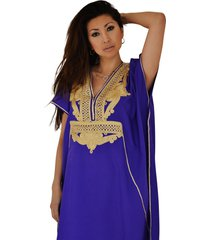 purple gold maxi dress beach kaftan cover up