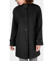 jones new york petite single-breasted walker coat
