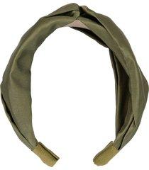 jennifer behr twist silk headband - green