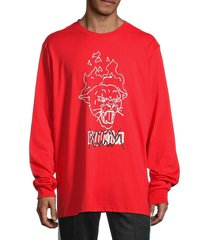 puma men's franchise street graphic long-sleeve t-shirt - red - size xxl