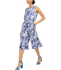 vince camuto cropped tie-dyed jumpsuit