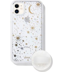 sonix cosmic iphone 11 case & slide silicone phone ring - white