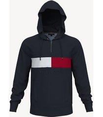 tommy hilfiger men's essential hilfiger hoodie night sky - xl