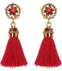 orecchini della boemia della donna degli orecchini della nappa del rhinestone di cristallo elegante