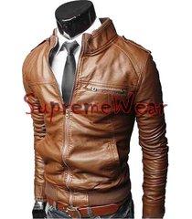 handmade new men rib style slim fit leather jacket, men leather jacket, leather