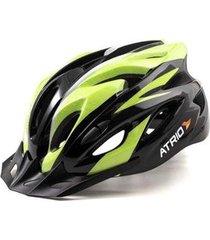 capacete atrio para ciclismo mtb inmold 2.0 viseira removível 19 entradas de ventilação neon