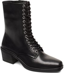 sim shoes boots ankle boots ankle boots with heel svart vagabond