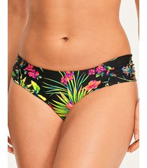 anya print gather bikini brief