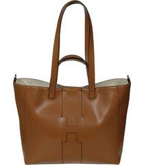 hogan basic maxi shopper bag