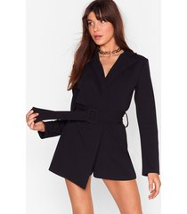 work it belted tailored romper