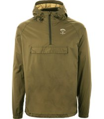 packmack pop over rain jacket - olive pm200-olv