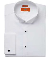 egara orange white extreme slim fit french cuff dress shirt