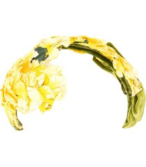 a.n.g.e.l.o. vintage cult 1950s floral appliqué headband - yellow