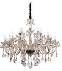 lustre de cristal 21 lâmpadas wicklow