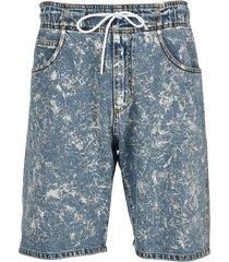 msgm brush paint bermuda shorts