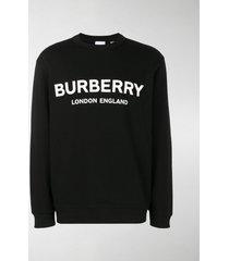 burberry logo print cotton sweatshirt