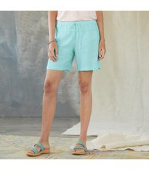 sundance catalog women's zia shorts in turquoise xs