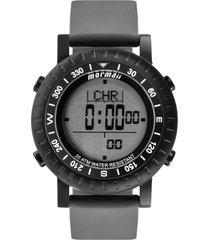 relógio mormaii digital action mo1152a8p cinza/preto - kanui