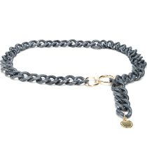 b-low the belt chunky chain belt - blue