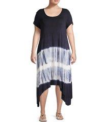 karen kane women's plus tie-dye dress - size 1x (14-16)