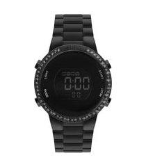 relógio feminino euro digital - eubj3279aj4p preto