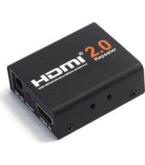 mini hdmi 2.0 repetidor extensor de transmisión compatible con formatos 3d 1080p 4kx2k @ 60 hz hdcp 2.2 edid ancho de banda hasta 18 gbp negro