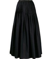 barena high waisted skirt - black