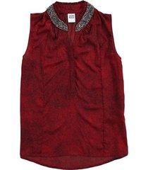 vero moda blouse top met steentjes
