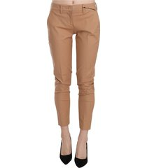 mid waist cotton skinny dress trousers pants