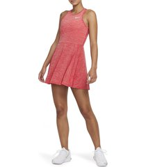 nikecourt dri-fit advantage dress, size x-large regular in university red/white at nordstrom