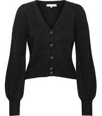 srpeach ls v-neck knit gebreide trui cardigan zwart soft rebels