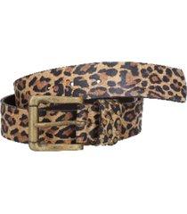 cinturón cuero liso con pasador multicolor zappa