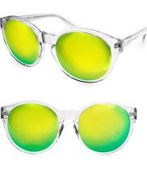 aqs women's 60mm daisy round sunglasses - grey