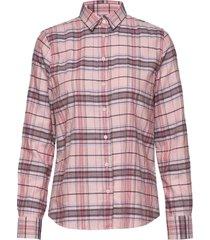 d1. check twill shirt overhemd met lange mouwen roze gant