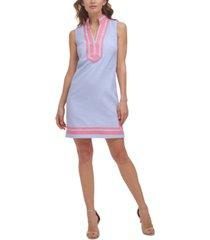 jessica howard striped notch-neck dress