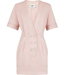 rosewood pink denim dress