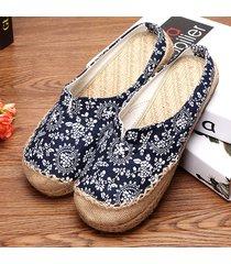scarpe basse slip-on aperte dietro con stampa floreale in mix colore