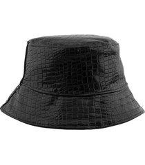 sombrero negro bohemia cuerina