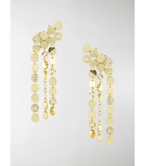 ellery tucson asymmetric disc embellished earrings