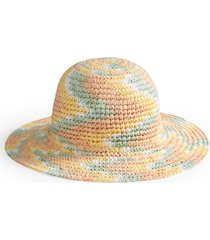 bp. multicolor woven straw hat in pink multi at nordstrom