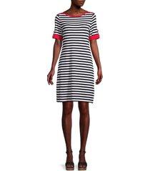 tommy hilfiger women's striped shift dress - white sky captain - size m