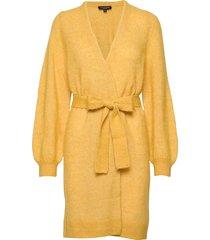 slfanna ls x-mas knit cardigan b gebreide trui cardigan geel selected femme