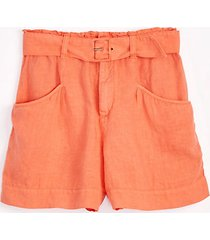 lou & grey belted linen shorts