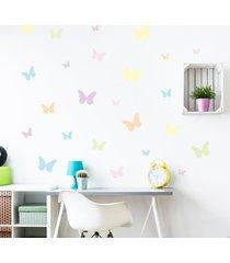 adesivo de parede borboletas aquarela 25un cobre 1,5mâ² - multicolorido - menina - dafiti