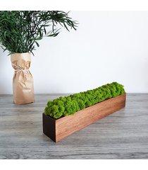 doniczka drewniana z chrobotkiem 40 cm, orzechowa
